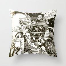 Music Jam Throw Pillow