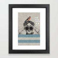 she wants to see the world Framed Art Print