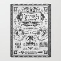Legend of Zelda Bomb Advertisement Poster Canvas Print