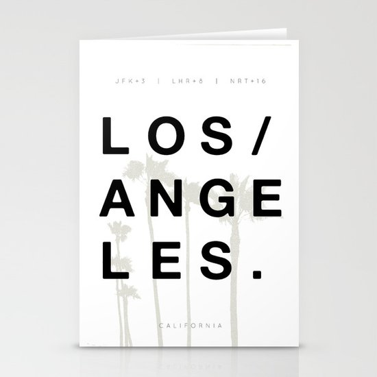 Los Angeles. Stationery Card
