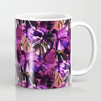 Palm Leaf Purple Pink Mug