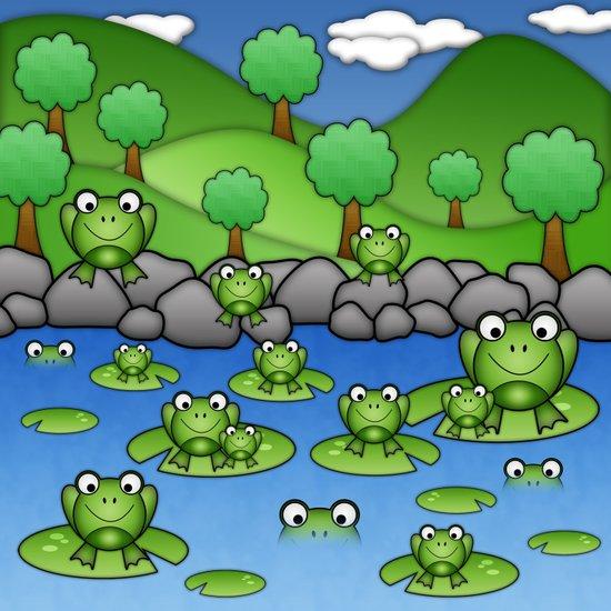 Froggies!  Art Print