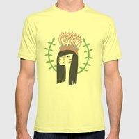 Wingapo Mens Fitted Tee Lemon SMALL