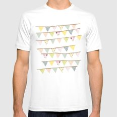 bunting fun SMALL White Mens Fitted Tee