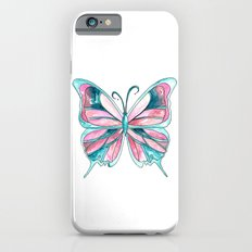 Pink and Blue Watercolor Butterfly Slim Case iPhone 6s