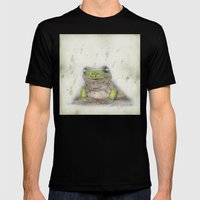 Jeremiah Was A Bullfrog Mens Fitted Tee Black SMALL
