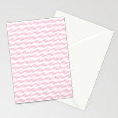 Pink Zigzag Design Stationery Cards