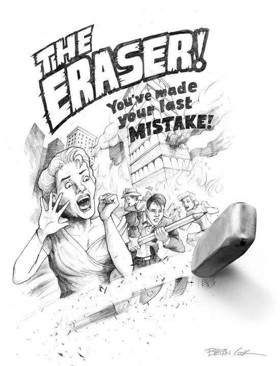 The Eraser Art Print