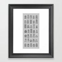 Salt & Pepper Framed Art Print