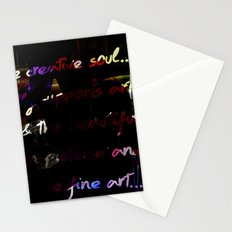 Glowing letters Stationery Cards