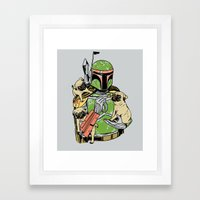 Pug Hunter Framed Art Print