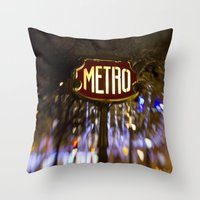 Metro Love Throw Pillow