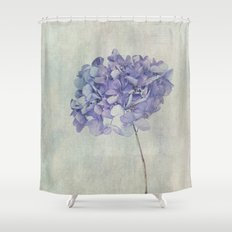 Beautiful Blue Hydrangea Shower Curtain