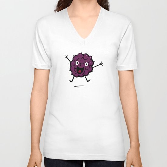 Blackberry V-neck T-shirt
