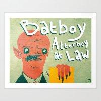bATBOY Art Print