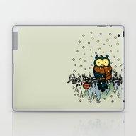 Owl In The Snow V2 Laptop & iPad Skin
