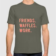PARKS AND REC FRIENDS WA… Mens Fitted Tee Lieutenant SMALL