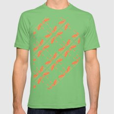 Orange chamomiles  Mens Fitted Tee Grass SMALL