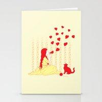 Bubbly Hearts Stationery Cards