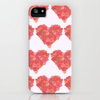 iPhone Cases featuring Heart Made of Hearts - Red Pink Orange by sitnica