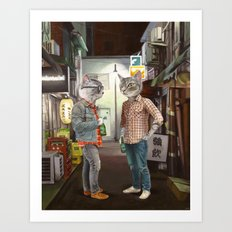 A Cats Night Out Art Print