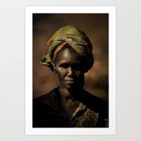 River Woman Art Print