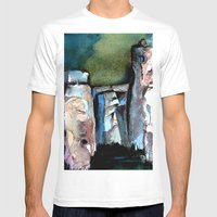 Stonehenge Mens Fitted Tee White SMALL