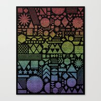 Modern Elements with Spectrum. Canvas Print