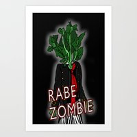 Rabe Zombie Art Print