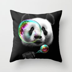 PANDA BUBLEMAKER Throw Pillow