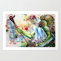 Architect Of Prehysteric… Art Print