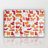 Foxy Foxes Doodle Laptop & iPad Skin