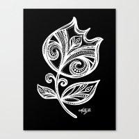 White Flower 111 Canvas Print