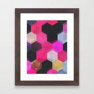 Colour + Pattern 13 Framed Art Print