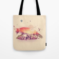 Woodlands Fox Tote Bag