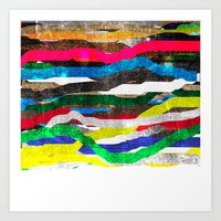 fancy stripes 2 Art Print