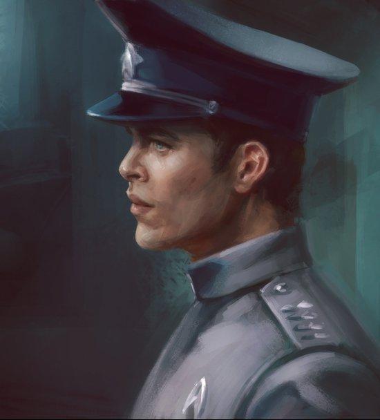 Star Trek: Captain Kirk Dress Uniform Art Print