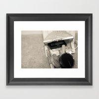 Kiss and Makeup Framed Art Print