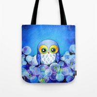 Lunar Owl in Dandelion Field Tote Bag