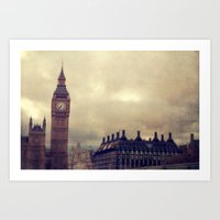london Art Prints featuring London by The Last Sparrow