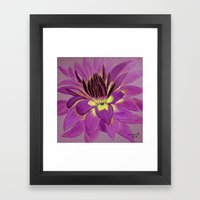 flower close up Framed Art Print