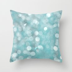 Aqua Bubbles Throw Pillow