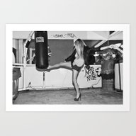 Heel Kick Art Print