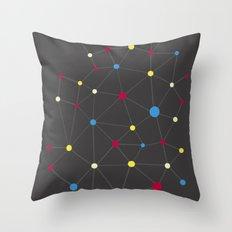 Molecules Throw Pillow