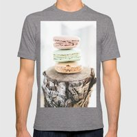 Macarons from Paris Mens Fitted Tee Tri-Grey SMALL