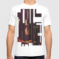 Still Life Texture Mens Fitted Tee White SMALL