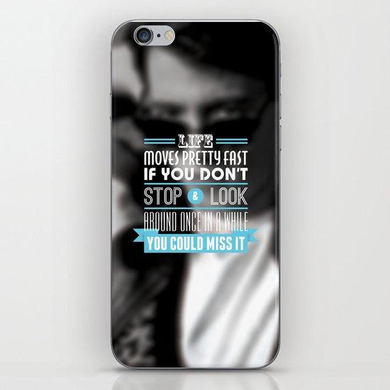 """FERRIS BUELLER"" Typography Poster iPhone & iPod Skin"