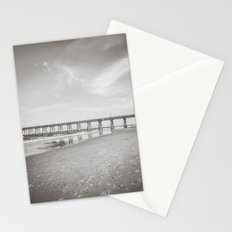 Johnny Mercer's Fishing Pier Wrightsville Beach NC Sepia Black and White Stationery Cards
