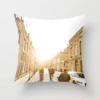 all kinds of bright Throw Pillow