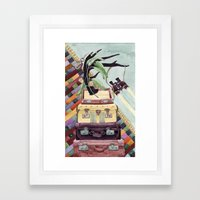 Suitcases Binoculars And… Framed Art Print